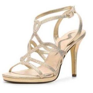HOLIDAY SPECIAL! Nina Roxane Gold Strappy Heel